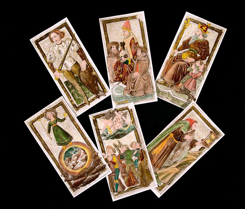 Cartes de tarot du 15eme siecle. Collection particuliere
