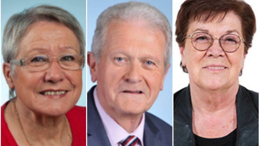 Odile Saugues, Gérard Charasse et Michèle André, trois des retraités politiques auvergnats