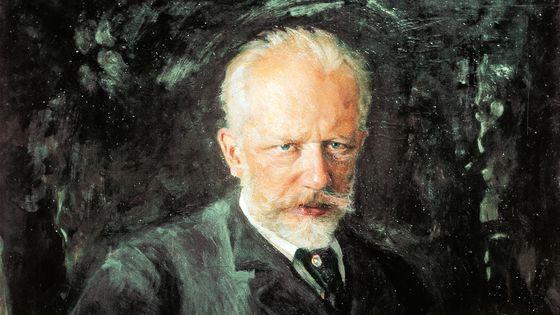Piotr Ilyitch Tchaïkovki, peinture (détail) de Nikolai Kusnezow