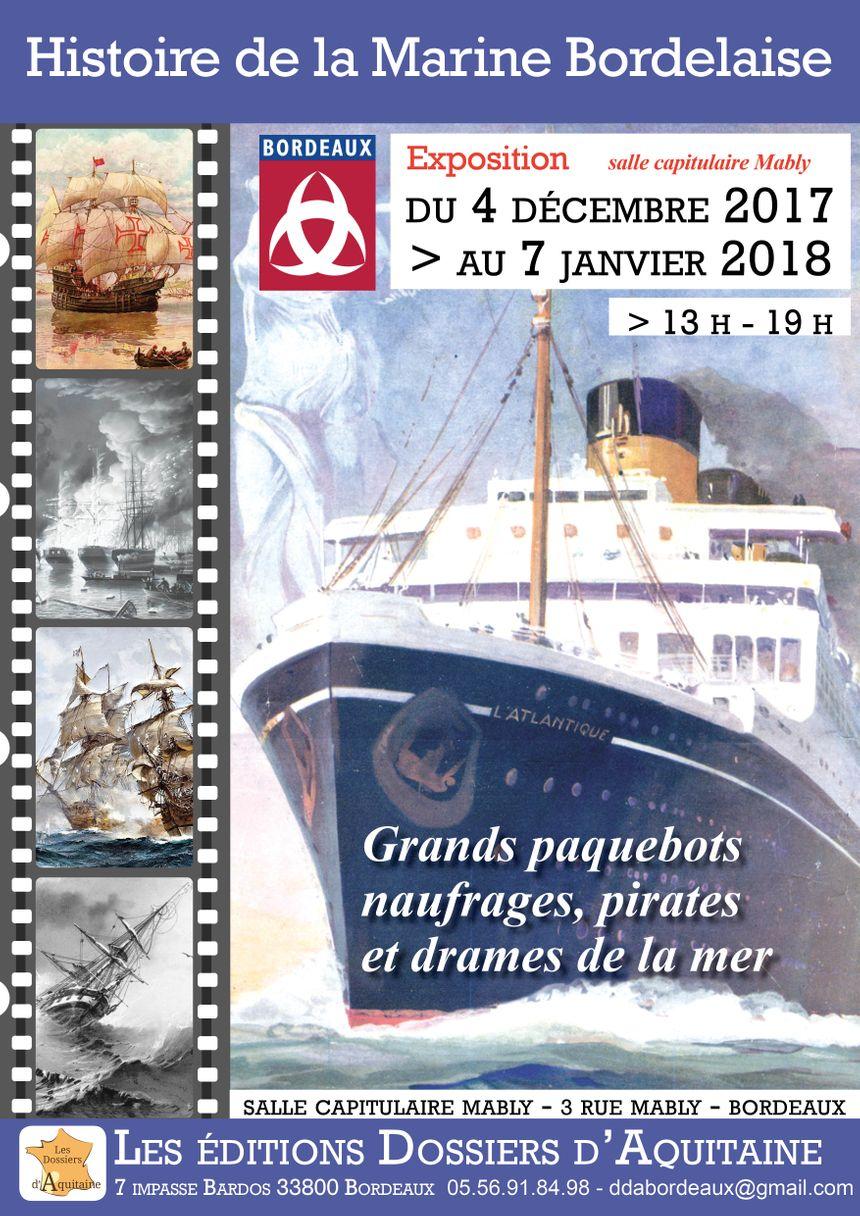 L'association les dossiers d'Aquitaine a monté une exposition pour mettre en valeur le contenu de ses deux dernières publications, qui traitent de l'histoire maritime de Bordeaux.