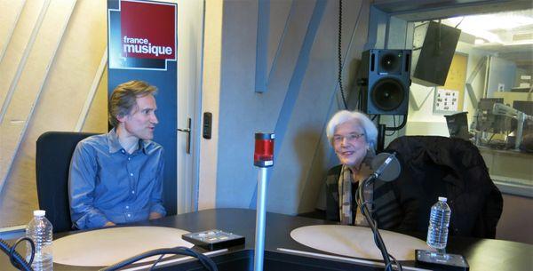 France Musique, studio 152... Philippe Venturini & Betsy Jolas