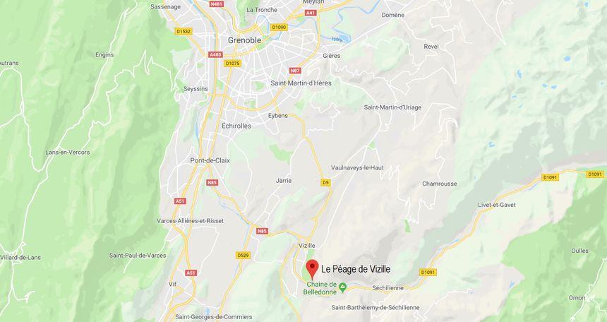 La commune de Péage-de-Vizille situé dans le sud de Grenoble