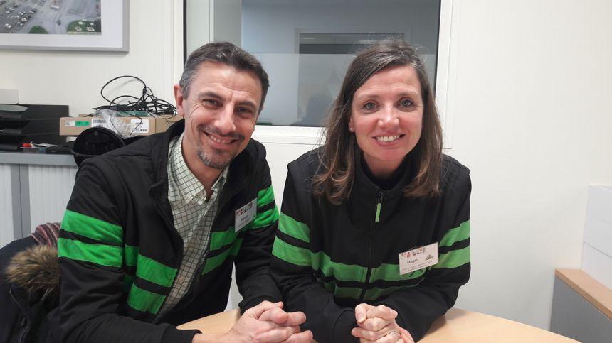 Hervé Daugan et Magali Harnois, satisfaits du système des horaires choisis chez Leroy Merlin