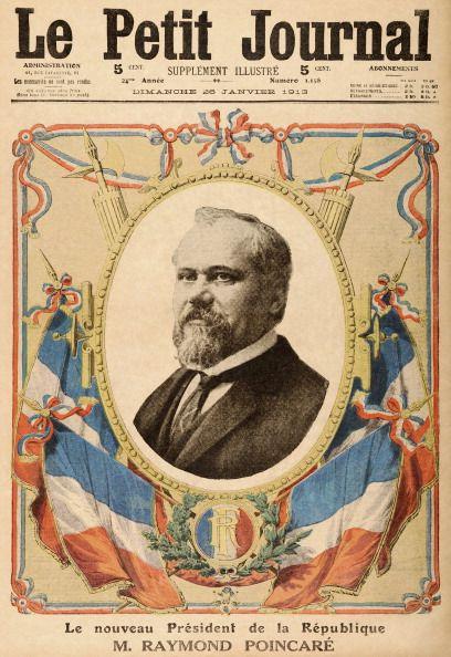 """La Un edu """"Petit journal en janvier 1913, à l'occasion de l'élection de Raymond Poincaré , nouveau président de la France"""
