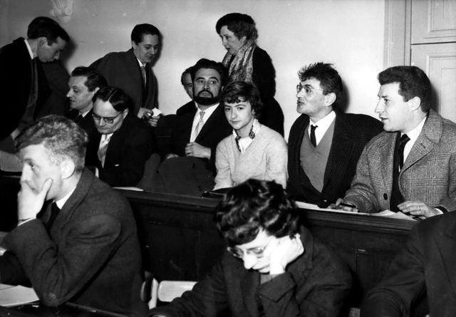 Françoise Sagan jeune reporter couvre le procès des deux jeunes tueurs