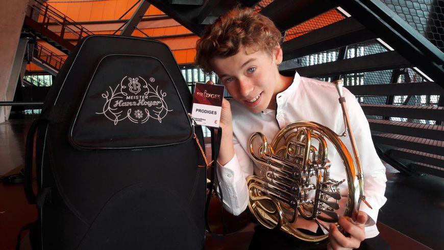 Florian 13 ans candidat à Prodiges a enregistré à Strasbourg avec l'orchestre philarmonique -