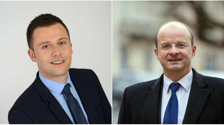 L'élection de Ian Boucard(à gauche) dans la 1re circonscription du Territoire de Belfort, invalidée suite au recours de Christophe Grudler (à droite).