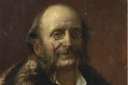 Jacques Offenbach (détail d'un portrait d'une collection privée)