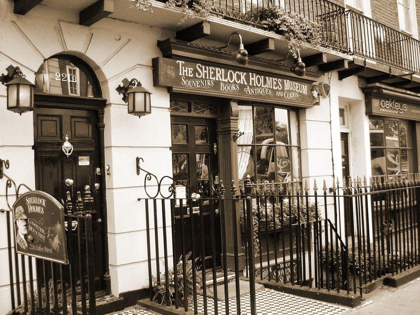 Musée Sherlock Homes, 221, Baker street Londres.