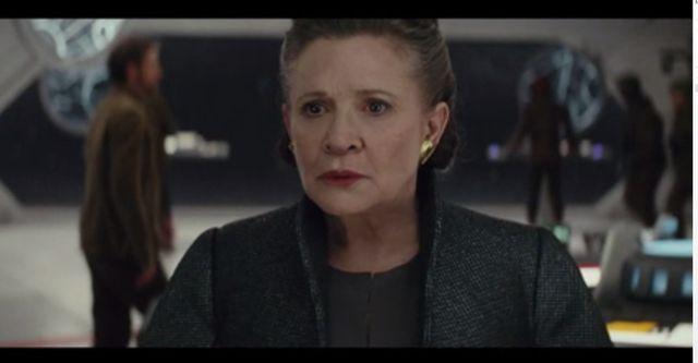 Carrie Fisher - Capture d'écran bande annonce Les Dernier Jedis