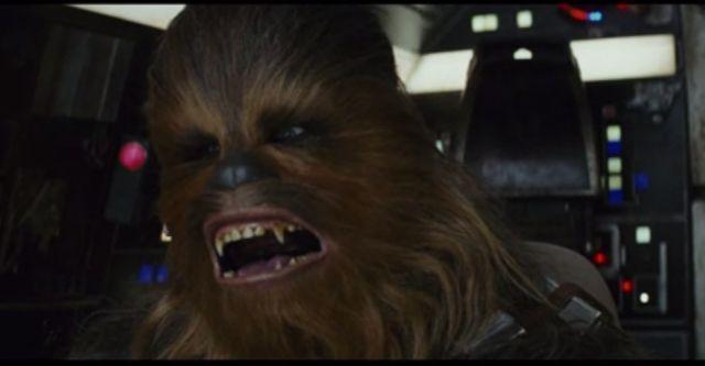 """Capture d'écran de la bande annonce """"Les derniers Jedis"""""""
