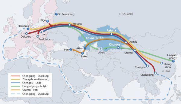 """Carte des diverses routes de ce qui s'appelle """"le corridor casaque"""""""