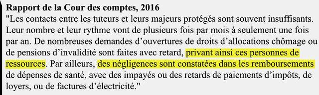 Extrait du rapport de la Cour des comptes, octobre 2016