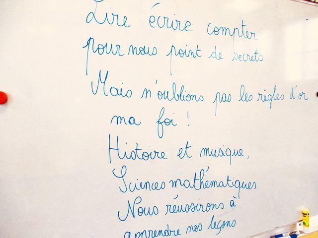 Les paroles de l'hymne du Cours Charlemagne à Argenteuil, inventé par un enseignant