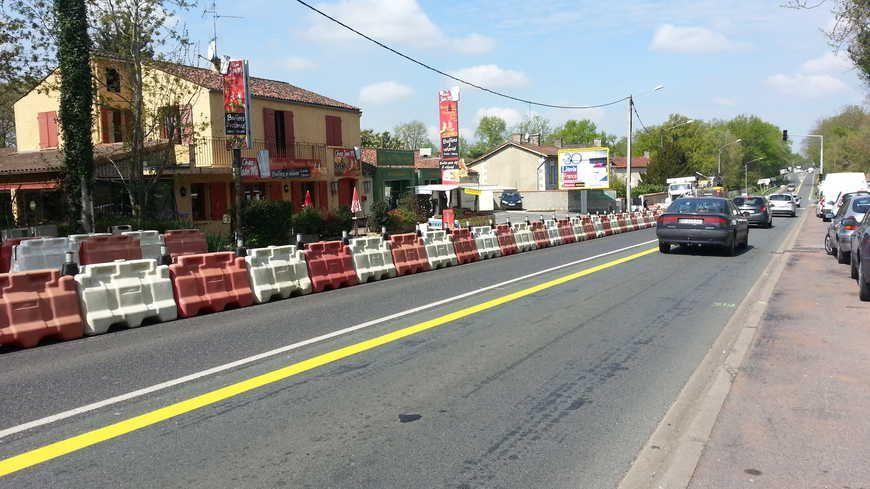 La RN 147 à Mignaloux-Beauvoir près de Poitiers.