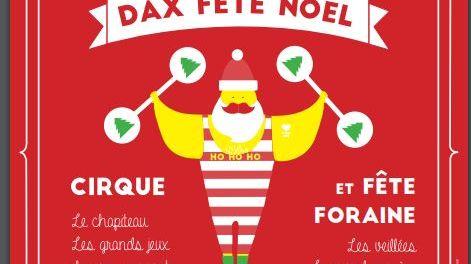 """L'affiche de """"Dax en fête"""" est placardée dans toute l'agglomération."""