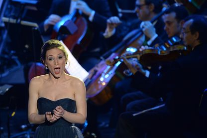 La soprano Sabine Devieilhe, en 2014.