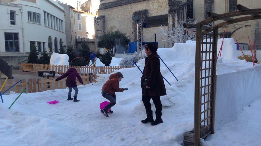Le jardin des neiges, place d'Inguimbert.