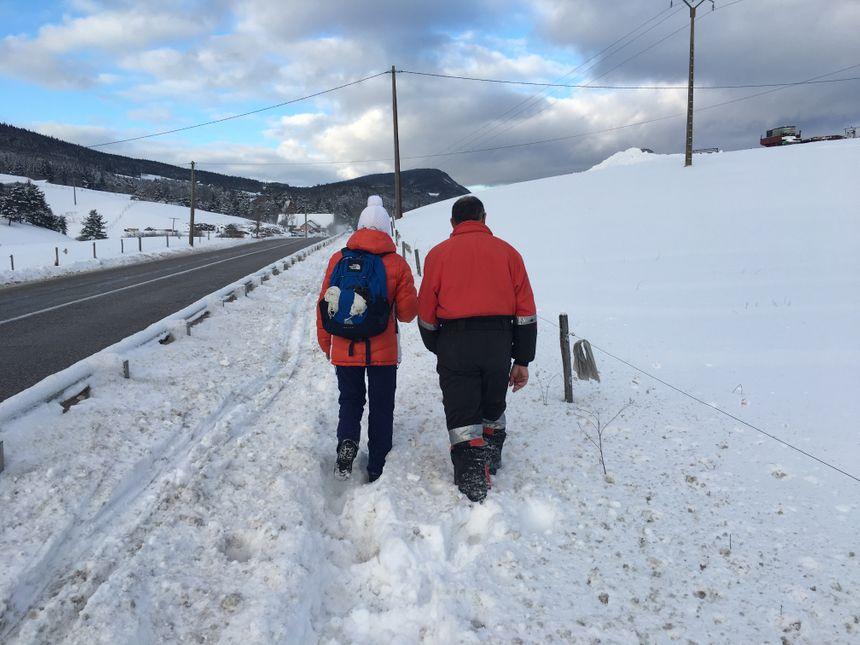 Il fallait prévoir l'équipement jeudi matin pour se balader sur le plateau du Vercors.