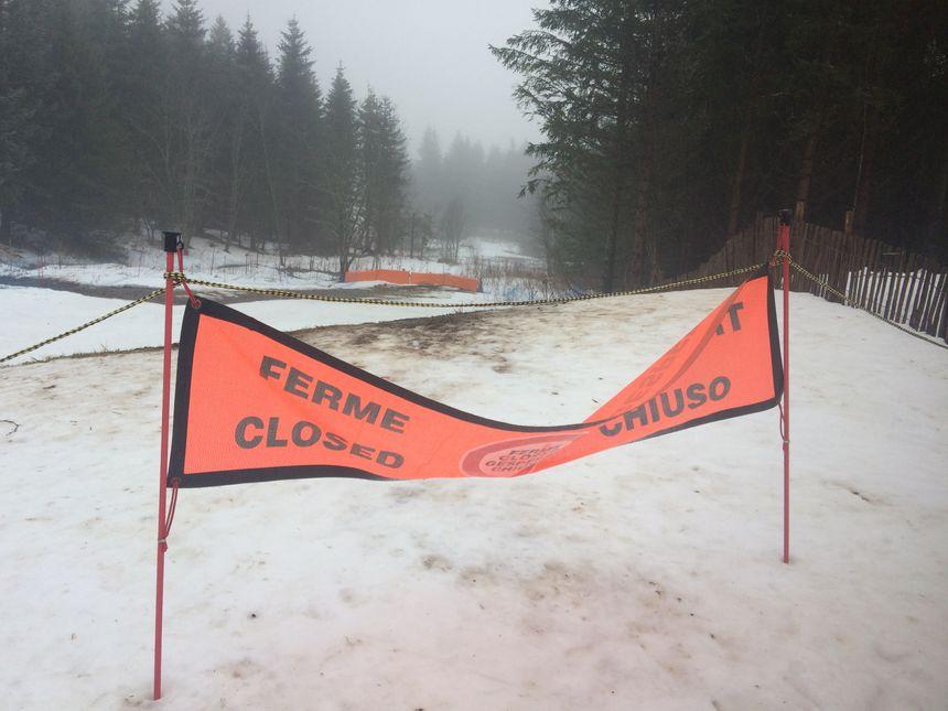 L'espace pour luges était fermé ce samedi après-midi au col du Guéry