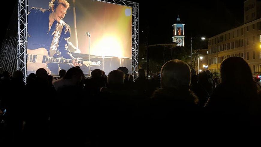 L'hommage niçois à Johnny Hallyday le 6 Décembre 2017