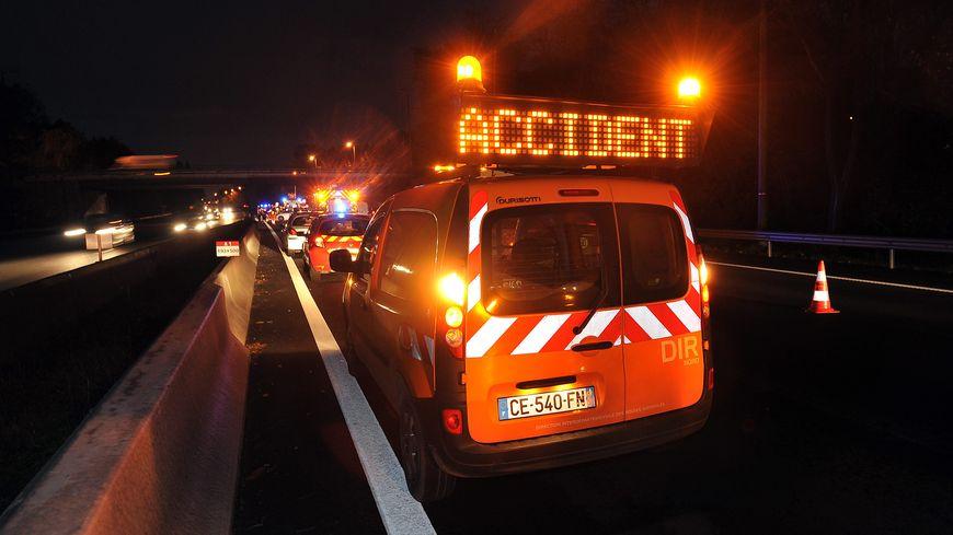 Le carambolage a eu lieu à hauteur d'Ibos. Huit voitures et un camion ont été impliqués.