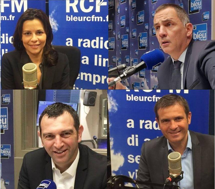 Les quatre candidats toujours en lice pour ce second tour des élections territoriales 2017