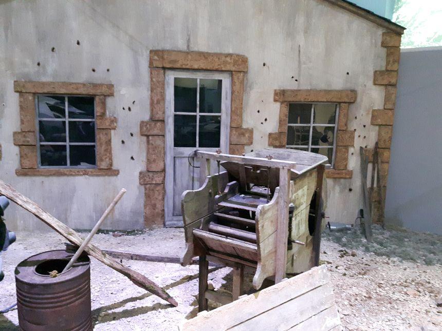 Les traces des combats sur une maison ardennaise