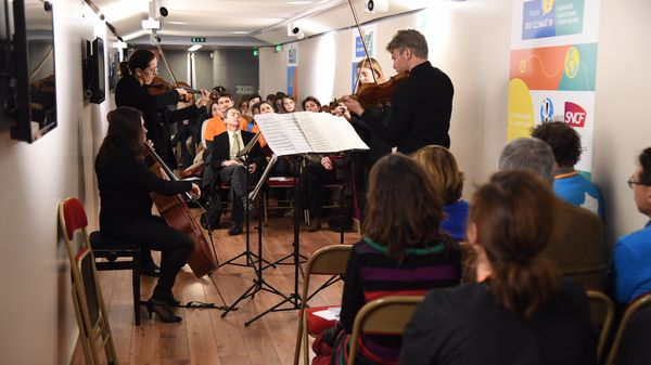 Les musiciens de Radio France investissent les gares SNCF