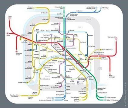 La carte du réseau métro et RER pour la nuit du Nouvel An.