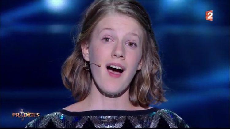 Roxane Macaudière lors de la finale de Prodiges sur France 2