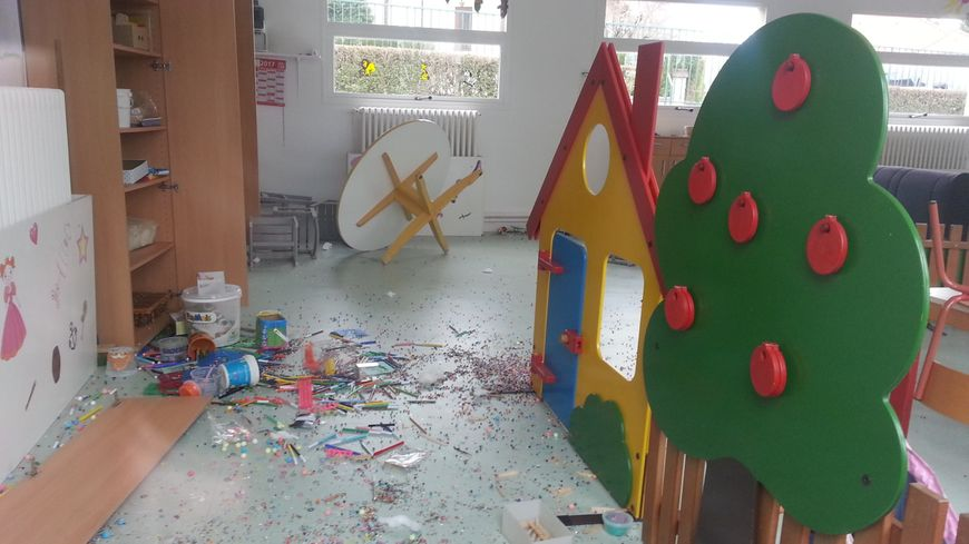 Trois salles de l'école maternelle ont été mises à sac