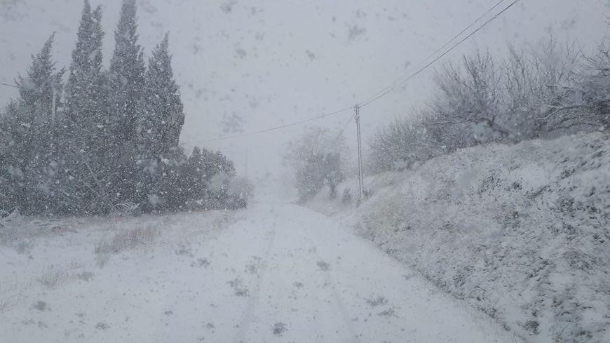 Malaucène sous la neige