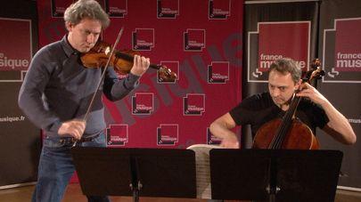 Zoltán Kodály | Duo pour violon et violoncelle op.7 (Premier Mouvement) par David Grimal et Xavier Phillips. Enregistré le 13 novembre 2014 au studio 107 de la Maison de la Radio.