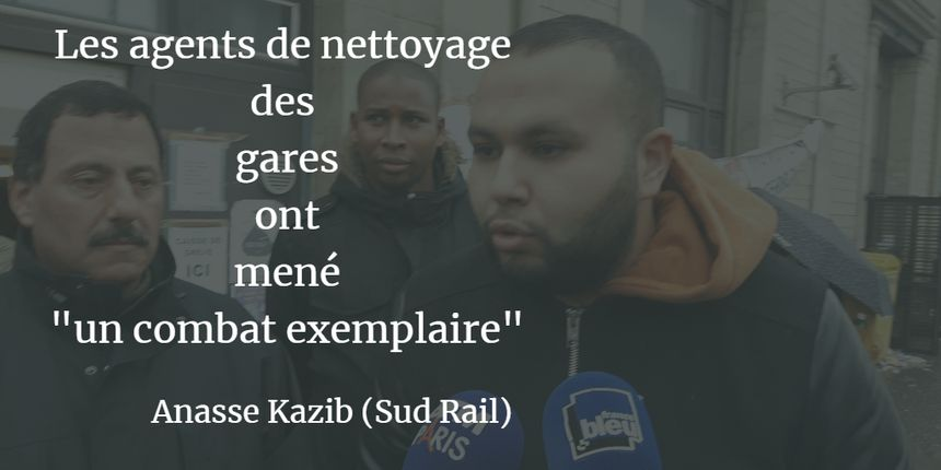 Anasse Kazib, du syndicat Sud Rail pour Paris Nord - Radio France
