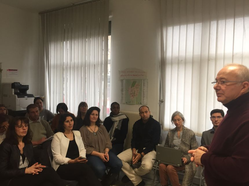 Jean-Claude Duchamp, du Club entrepreneurs 92, est venu à la rencontre des associés
