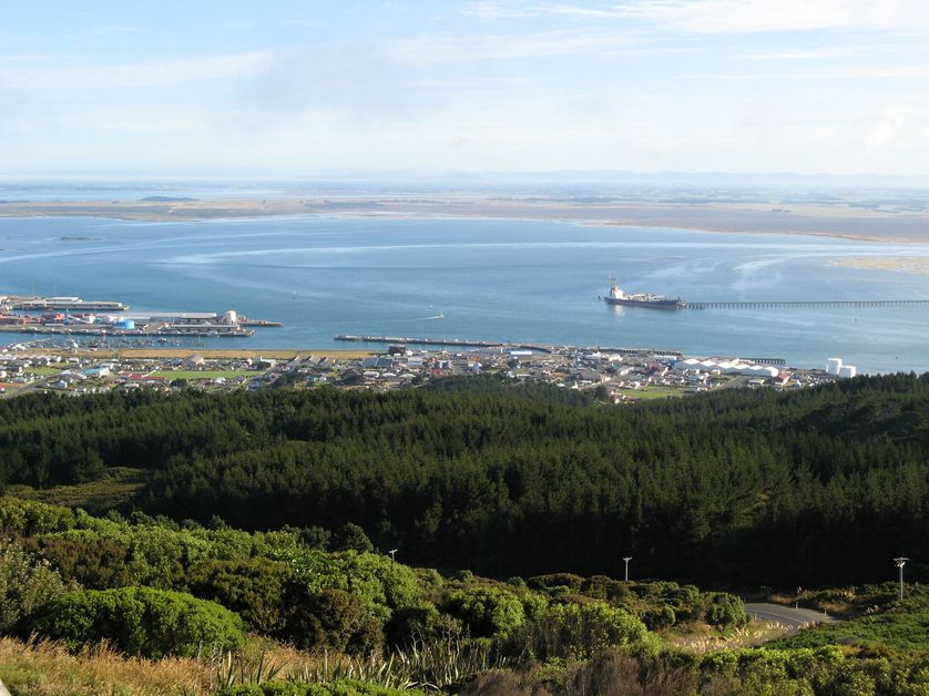 La ville portuaire de Bluff, à l'extrémité sud de la Nouvelle-Zélande
