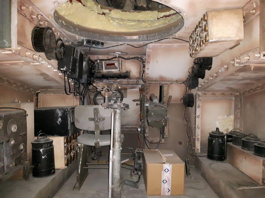 L'intérieur d'un char