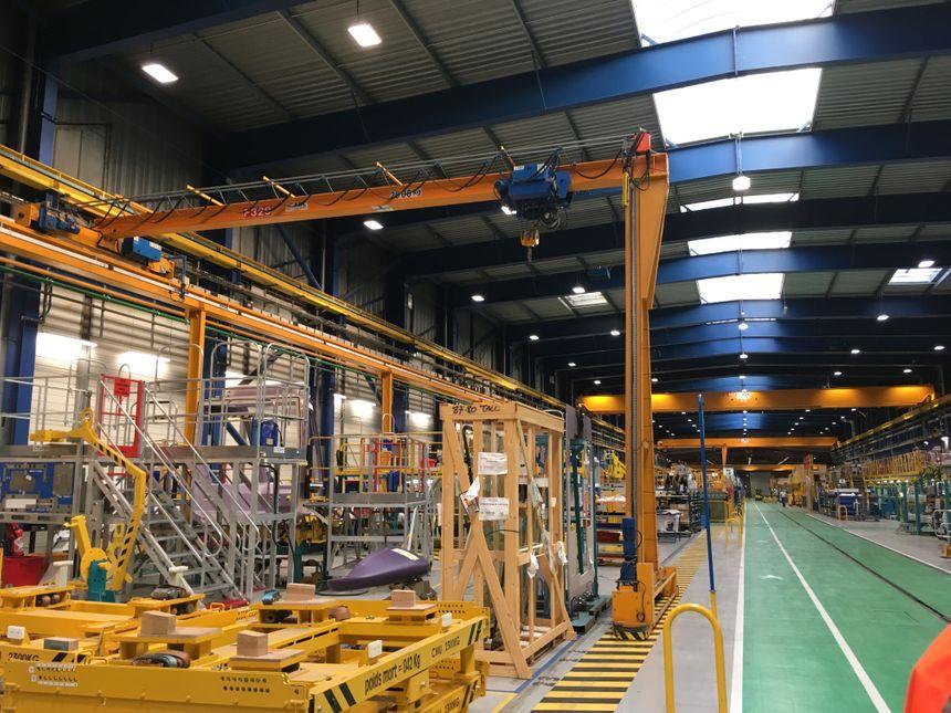 Chaine de montage sur le site de La Rochelle/Alstom