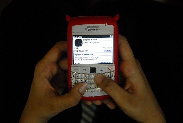 Un sms envoyé sur une téléphone portable.