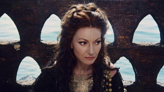 Maria Callas (1923- 1977)  dans le film 'Medea' du réalisateur italien Pasolini, en 1969