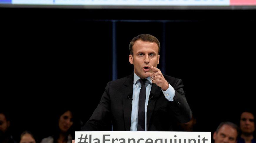 Emmanuel Macron en meeting à Montpellier en octobre 2016