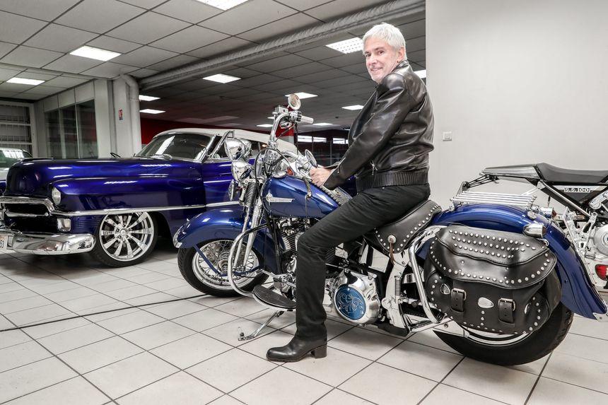 Le nouveau propriétaire de la Harley - Maxppp