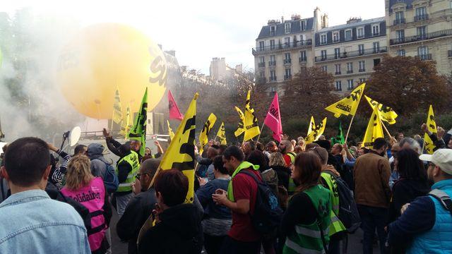 Manifestation des fonctionnaires à Paris