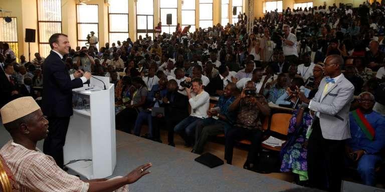 Discours d'Emmanuel Macron à la jeunesse africaine devant 800 étudiants de l'université de Ouagadougou, le 28 novembre 2017