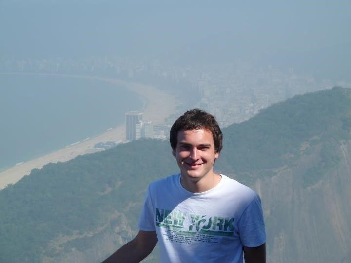 Maxime, lors d'un séjour au Brésil