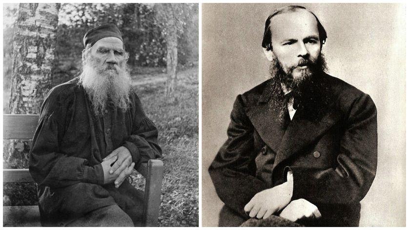 Léon Tolstoï et Fiodor Dostoïevski