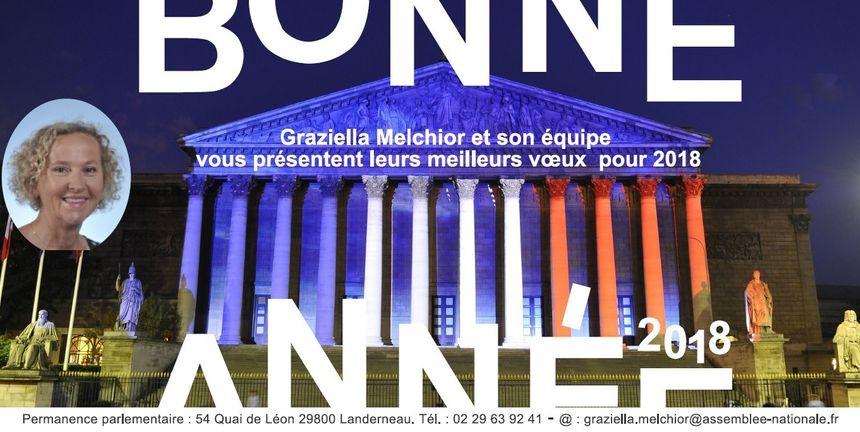 Carte voeux de Graziella Melchior la députée du Nord-Finistère