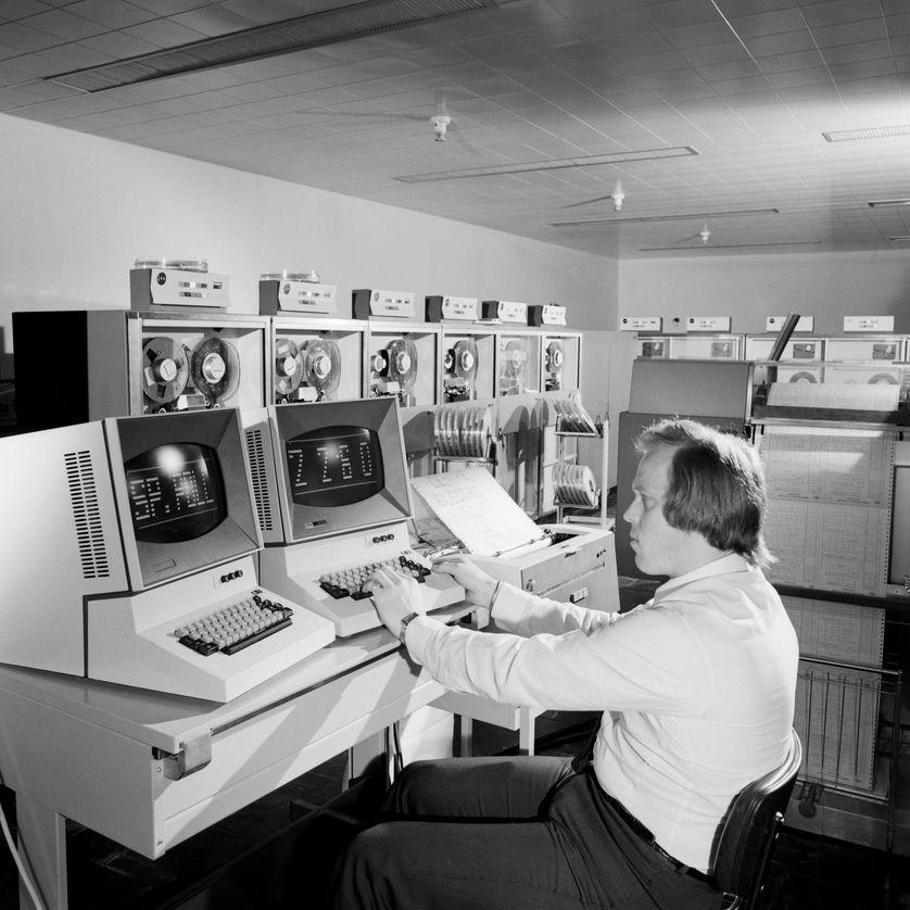 Salle informatique de l'ORTF, 1971