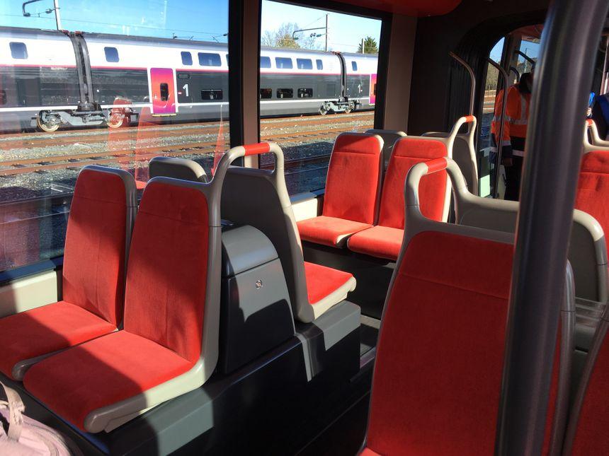 L'intérieur du nouveau tram niçois